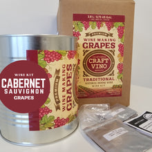 Load image into Gallery viewer, CABERNET GRAPES Premium Wine Kit – Cabernet Sauvignon – Makes wine in 4 -5  weeks - CraftVino