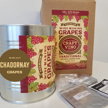 Load image into Gallery viewer, CHADORNAY GRAPES Premium Wine Kit – Chadornay – Makes wine in 4 -5 weeks - CraftVino