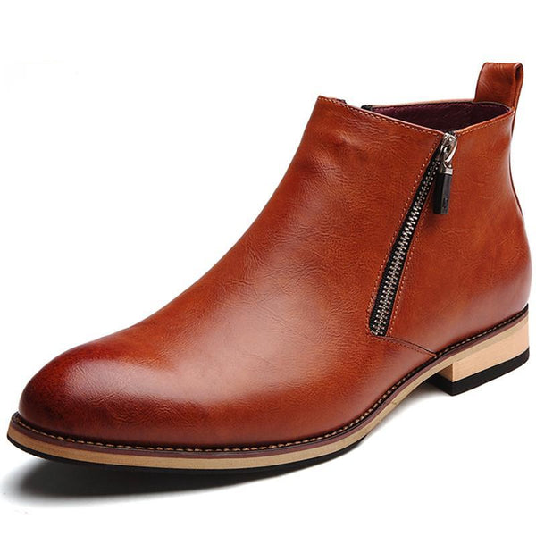 Lesley Leather Zip Boot