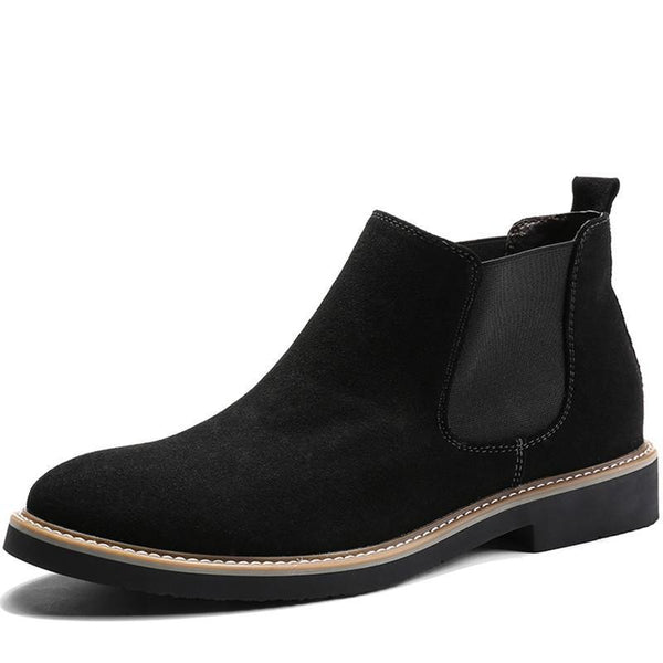 Low-cut Suede Chelsea Boot