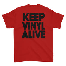 "Load image into Gallery viewer, Cue's Records ""Keep Vinyl Alive"" Classic T-Shirt"