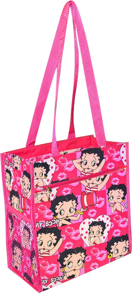 Betty Boop All Heads Pink Tote Bag Great American Luggage