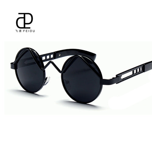 Retro Metal Mrirror Round Sunglasses