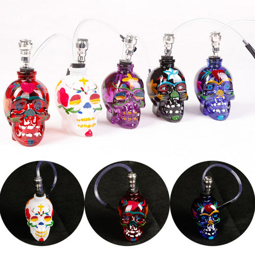 Punk Psychedelic Skull Glass Pipes