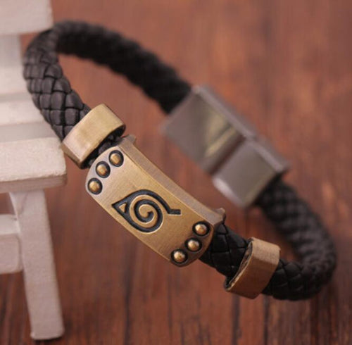 Woven Leather Earth Connect Band