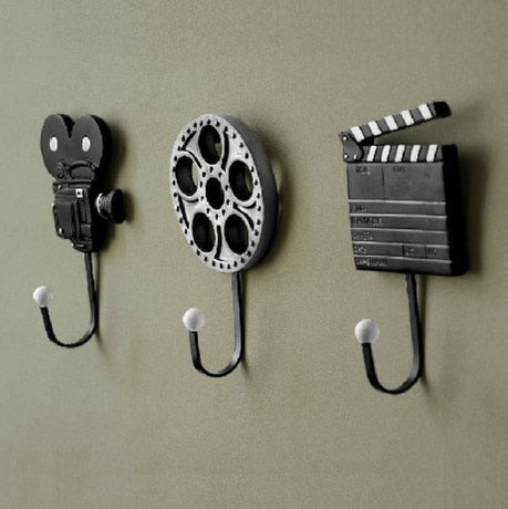 3PCS Iron, Wall Mount, Vintage Hat, Coat, Robe Hooks
