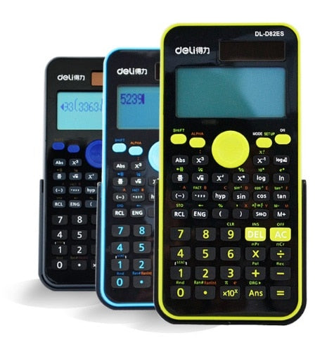Solar 2-Line LCD Scientific Calculator