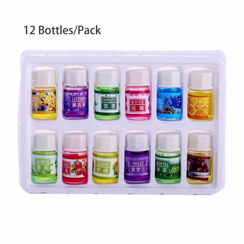 12 pcs Natural Plants Fragrance 3ml Essential Oil for Aromatherapy Diffusers