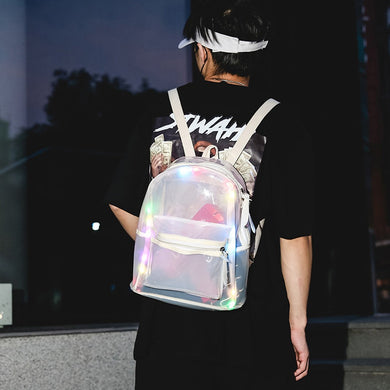 LED Jelly Transparent Backpack