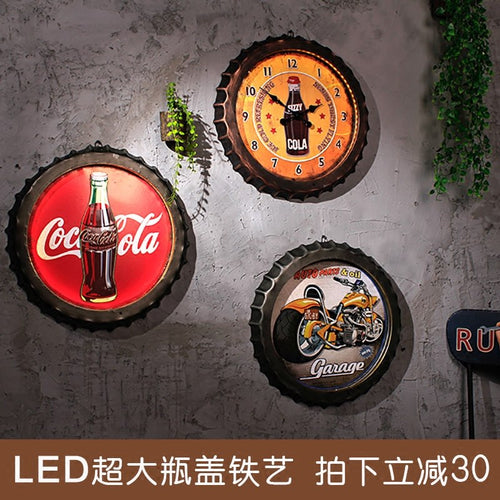 Retro Restaurant LED Wall Mural