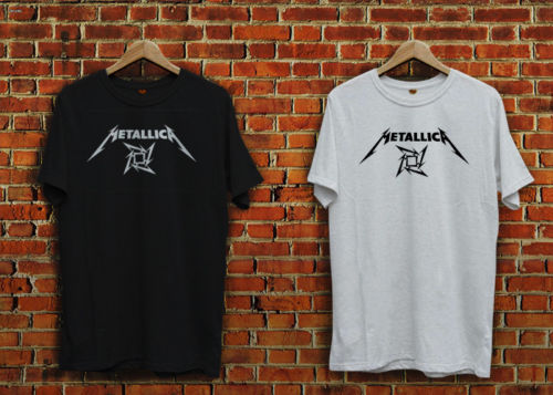 Metalica, black or white T