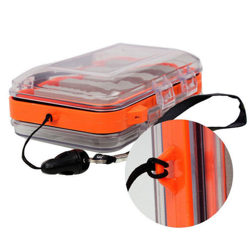 Mini Fly Fishing Box Waterproof Double Sided Lure Bait Hooks Storage Case Tackle