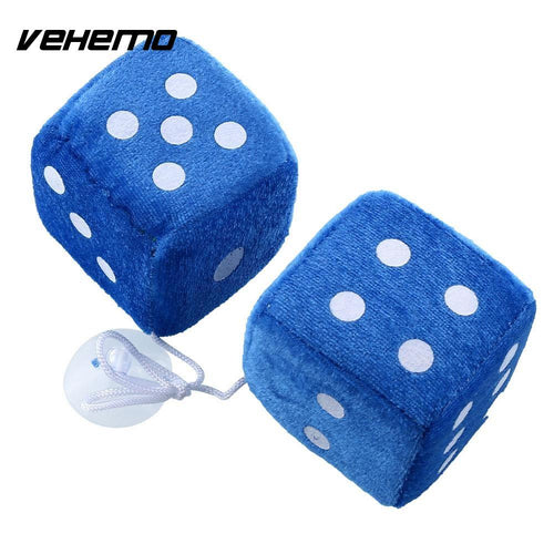 Drop your Flag, Blue Fuzzy Dice, Mirror Hanger