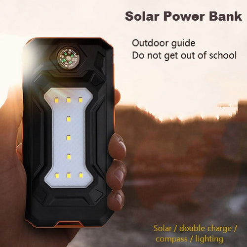 12000mAh Solar Charger With USB & LED Light