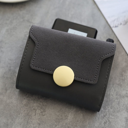 Triple Fold Wallet, Matte faux Leather, Vintage