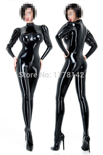 Latex Full CatSuit / Socks / 3D Cup / Puffed Sleeves