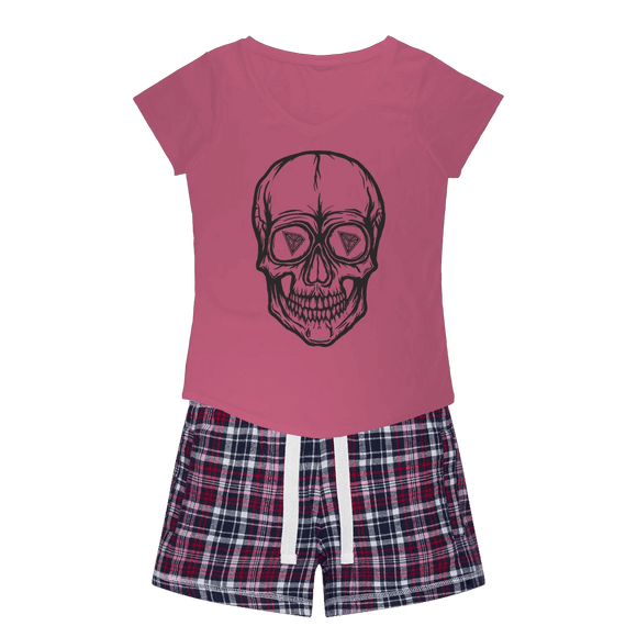 TRON Vision Girls Sleepy Tee and Flannel Short