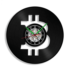 Bitcoin Vinyl LP Record Wall Clock