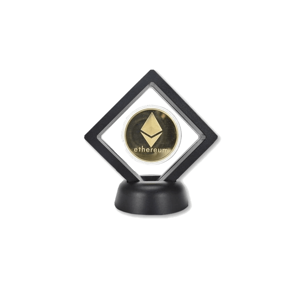 Ethereum Commemorative Coin with Modern Stand