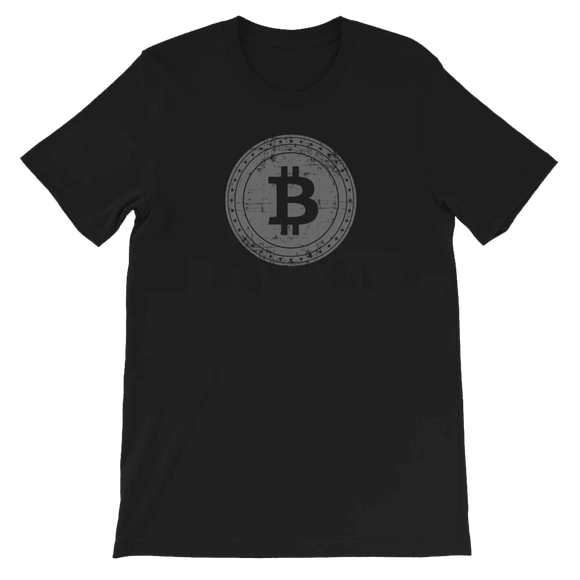 Distressed Bitcoin Emblem T-shirt