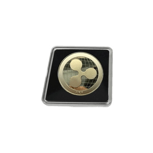 Gold-Plated or Silver Collector's Classic XRP/Ripple Coin with Clear Display Case