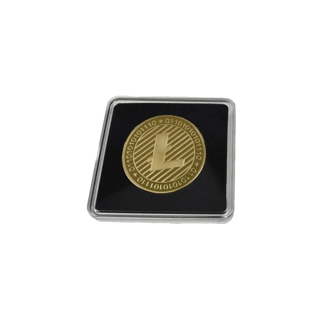 Gold-Plated or Silver Collector's Litecoin Coin with Clear Display Case