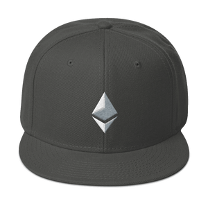 Ethereum Logo 3D-Puff Embroidered Snapback Hat
