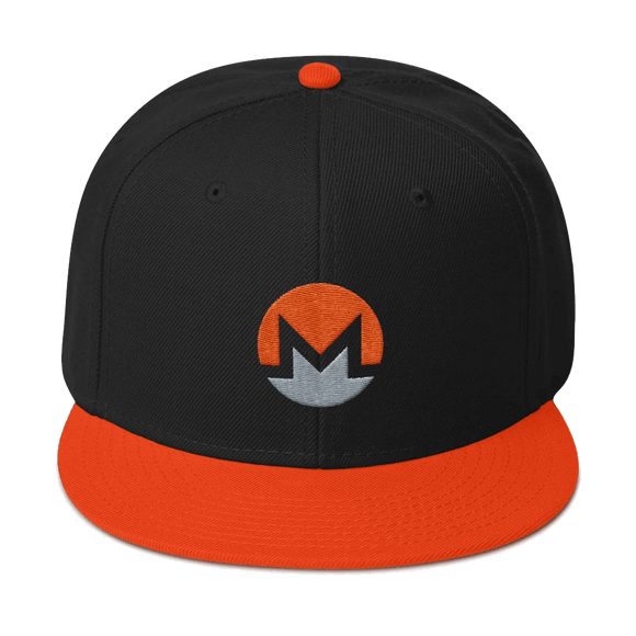 Monero Logo High-Profile Flat-Brim Snapback Hat