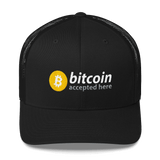 Bitcoin Accepted Here Trucker Cap