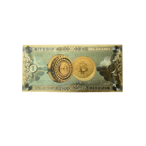 Collectible Bitcoin Gold-Foil Banknote