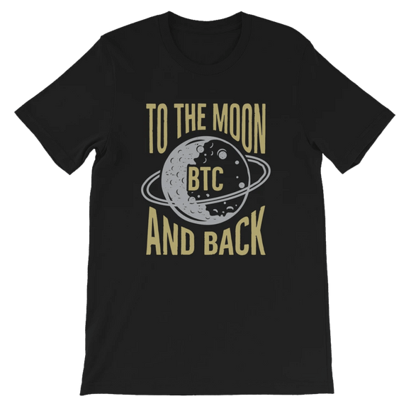 Bitcoin to the Moon and Back T-shirt