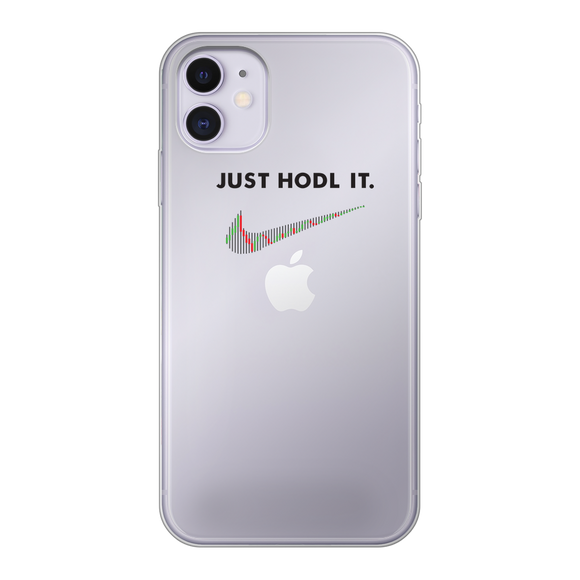 Just HODL It Transparent Semi-Soft Phone Case