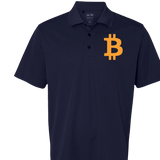 Bitcoin Orange Adidas® Golf ClimaLite Polo