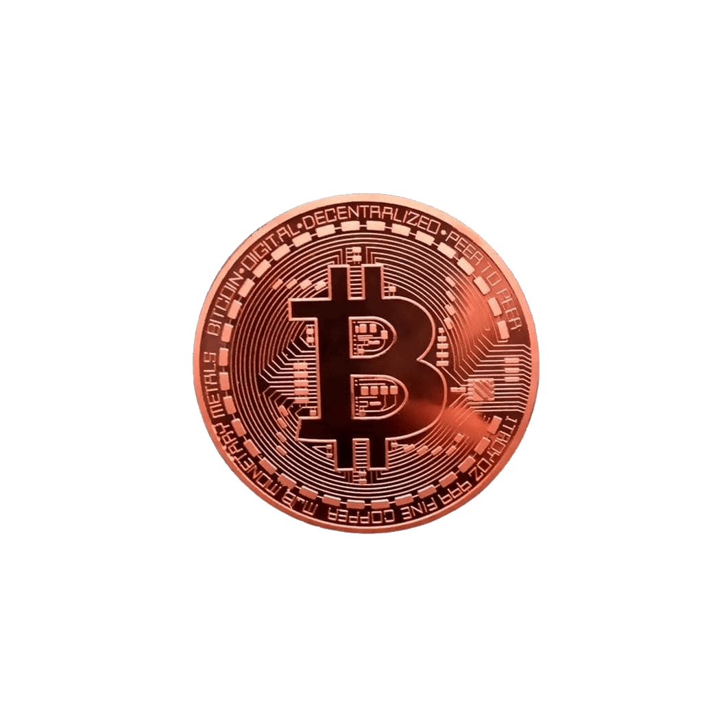 Gold-Plated Bitcoin Coin