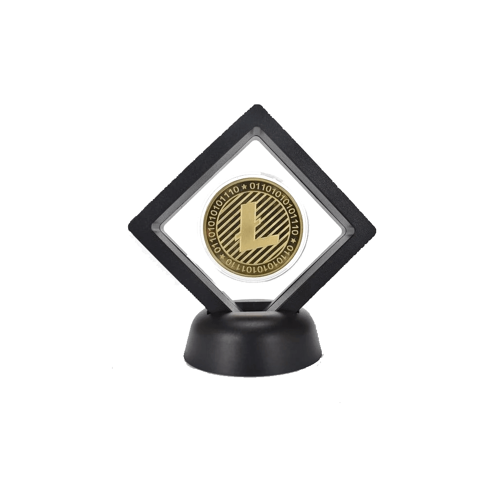 Litecoin Commemorative Coin with Modern Stand