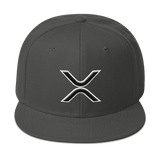 XRP Ripple 3D-Puff Embroidered Flat-Brim Snapback Hat