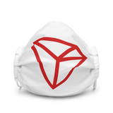 TRON Logo Premium Face Mask: White