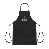 "Embroidered ""Will Cook for Bitcoin"" Apron"