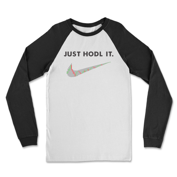 Just HODL It Classic Raglan Long Sleeve Shirt