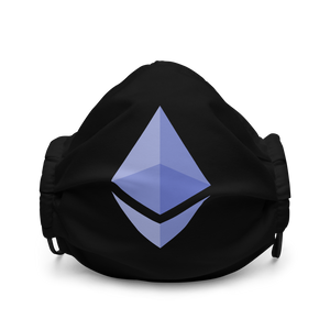 Ethereum ETH Premium Logo Face Mask: Black