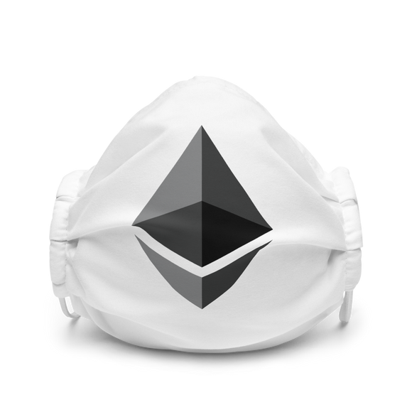 Ethereum ETH Premium Logo Face Mask: Grey