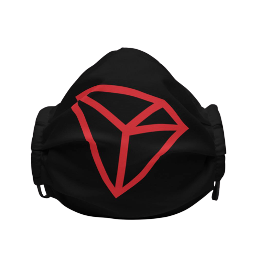 TRON Logo Premium Face Mask: Black