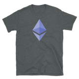 Ethereum ETH Short-Sleeve T-Shirt: Blue Logo