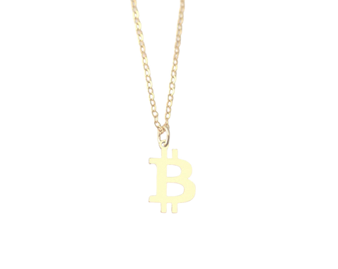 """Just B"" Bitcoin Necklace"