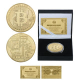 "24k Gold and Silver Bitcoin Collector's Coin: ""Worth Collection"""
