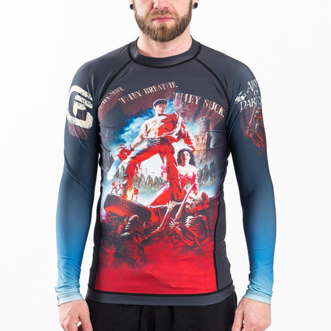 {{product.type}} - ADULTS Army of Darkness Hail to the King Rash Guard - Long Sleeve - Pancho Michael {{ shop.address.country }}