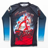 Mens Rash Guard Long Sleeve Army of Darkness Front Loose