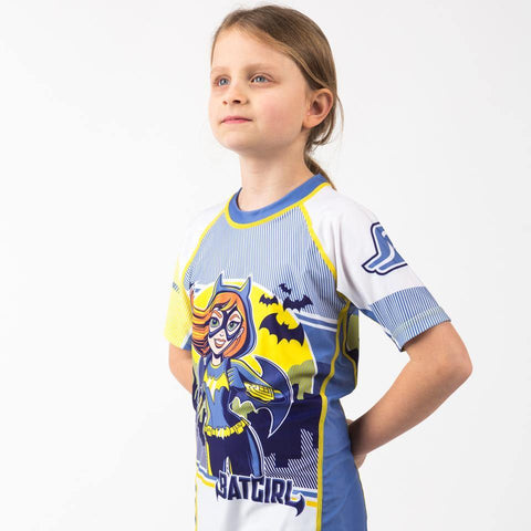 {{product.type}} - Batgirl Rash Guard - Short Sleeve - Pancho Michael {{ shop.address.country }}