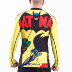 Mens Batman Comic Rash Guard Back Worn