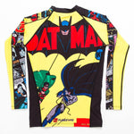 Mens Batman Comic Rash Guard Back Loose